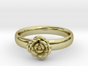 Ring with a rose in 18k Gold Plated