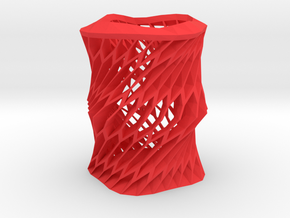 Twisted vase in Red Strong & Flexible Polished