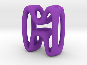 Alphabet M in Purple Strong & Flexible Polished