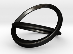 Bottle Opening Ring - Sz9 in Matte Black Steel