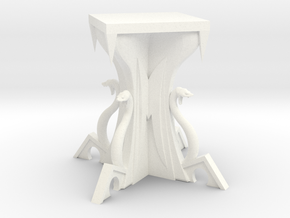 Knowledge Disk Table in White Strong & Flexible Polished
