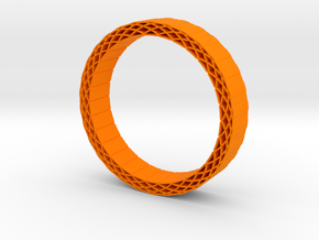 Rhombus holes bracelet in Orange Strong & Flexible Polished