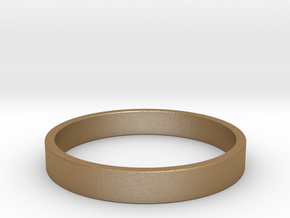 Simple and Elegant Unisex Ring | Size 8 in Matte Gold Steel