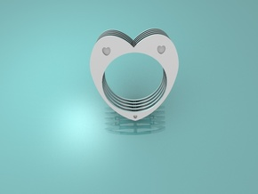 Anello Cuore Valentine in Polished Silver