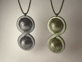 Infinite Worlds Pendant in Raw Silver