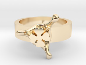 LuckySplash ring size 8 U.S. in 14k Gold Plated