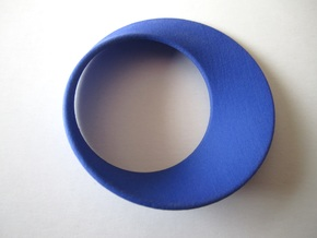 Moebius Band - Large in Blue Strong & Flexible Polished