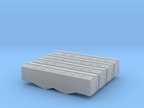 Airslide Two Bay Covered Hopper - Zscale in Frosted Ultra Detail