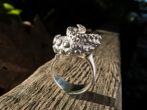 Octopus Ring size7 17.3mm diameter+ more sizes in Raw Silver