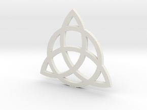 3.8 Triquetra in White Strong & Flexible