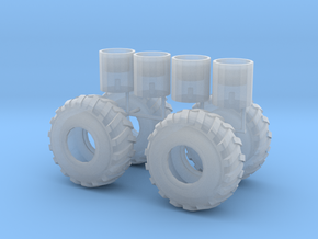 1/64th scale Log Skidder or construction tire in Frosted Ultra Detail