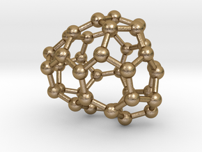 0085 Fullerene c38-4 c1 in Polished Gold Steel
