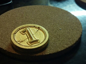 Hearthstone Coin in Matte Gold Steel