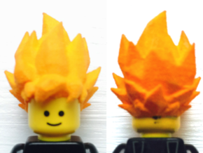 Goku Super Saiyan Lego Hair Dragon Ball Z in White Strong & Flexible