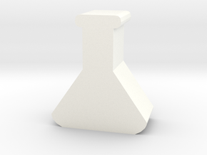 Lab Flask Token in White Strong & Flexible Polished