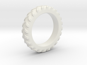 Tractor Tire Ring  in White Strong & Flexible