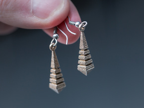 Monolith Earrings in Polished Nickel Steel