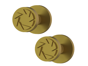 Portal Aperture Science Cufflinks in Polished Gold Steel