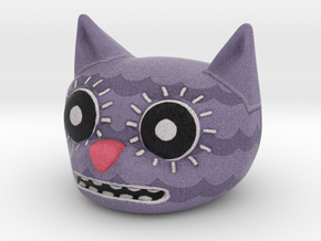 Funny Cat Head - 30mm in Full Color Sandstone