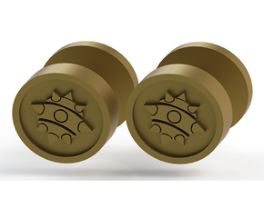 Team Fortress 2 Demoman Cufflinks in Polished Gold Steel