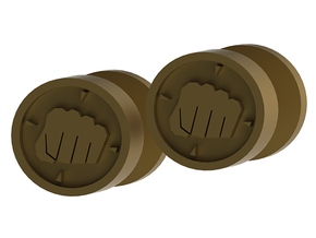 Team Fortress 2 Heavy Cufflink in Polished Gold Steel
