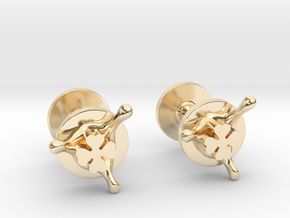 LuckySplash cufflinks in 14k Gold Plated