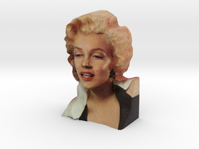 Marilyn Monroe Bust 9cm in Full Color Sandstone