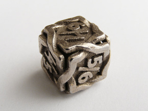 'Twined' Dice D6 Gaming Die Tarmogoyf P/T Version in Stainless Steel