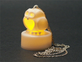 Stelliform Owl Pendant in White Strong & Flexible Polished