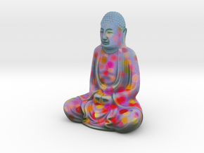 Textured Buddha: red petals. in Full Color Sandstone