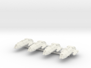 1/1000 Scale Walkabout Class Starships in White Strong & Flexible