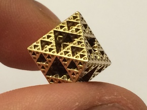 Sierpinski Octahedron Small in Raw Bronze