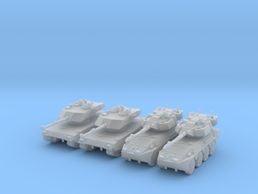 6mm 1/285 Ariete C1 tank and B1 Centauro vehicle in Frosted Ultra Detail