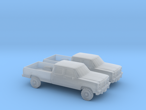 1/160 2X 1993 Dodge Ram Crew Cab in Frosted Ultra Detail
