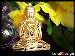 Wireframe Buddha in Stainless Steel