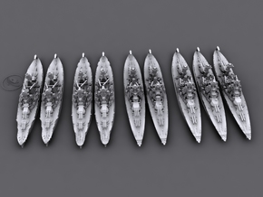 1/4800 US WWII Battleship Row (1941, 9 ships) in Frosted Ultra Detail