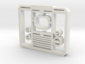 TV Face Plate facsimile - hollow in White Strong & Flexible