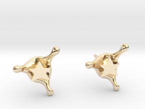 StarSplash stud earrings in 14k Gold Plated