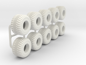 1/64 750/45R22.5 Tire in White Strong & Flexible