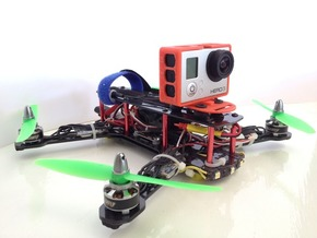 ZMR250 Quadcopter GoPro3 Frame in Red Strong & Flexible Polished