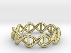 Ring DNA in 18k Gold Plated