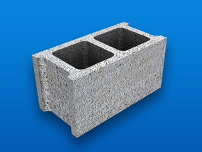 1:12 Scale Cinder Block in White Strong & Flexible