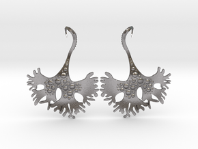IrishMoss Earrings in Polished Nickel Steel