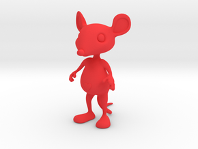 Tiny Heart Mouse in Red Strong & Flexible Polished