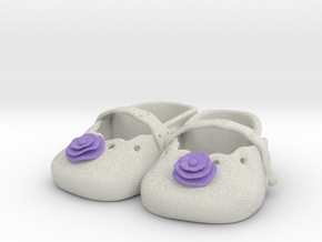 Baby Shower Decorations - Baby Shoes  in Full Color Sandstone