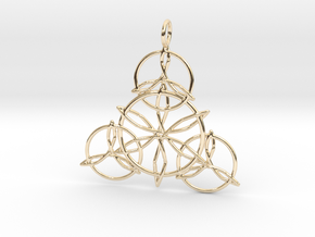 Celtic Knots Pendant in 14k Gold Plated