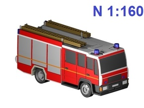 Feuerwehr - fire truck (N, 1:160) in Frosted Ultra Detail