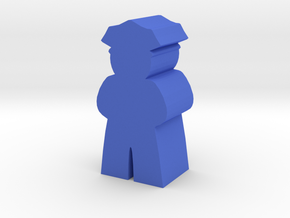 Police Officer Meeple in Blue Strong & Flexible Polished