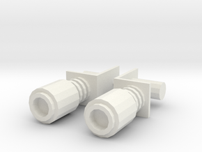 CW Windcharger Magnets in White Strong & Flexible