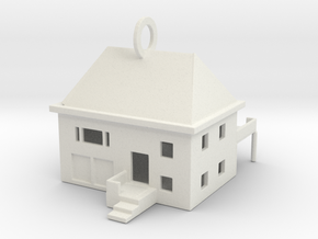 House KeyChain in White Strong & Flexible